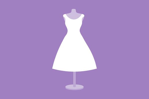 Hochzeitskleider Silhouette kurzes Kleid / Haus der Mode in Wetzlar