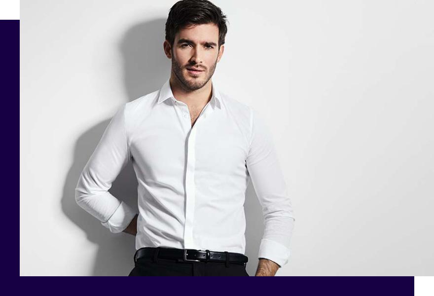 Mann in weißem Hemd von Haus der Mode Wetzlar, Anzüge Gießen