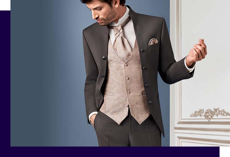 Mann in Anzug und Weste von Haus der Mode Wetzlar, Anzüge Gießen